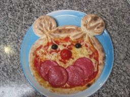Mickymaus-Pizza